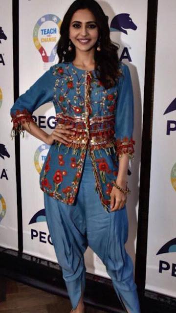 Tamil Actress Rakul Preet Singh In Angrakha Kurta Photos