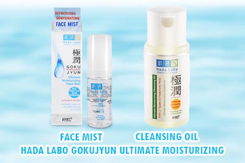 Hada Labo Gokujyun Ultimate Moisturizing Face Mist & Cleansing Oil