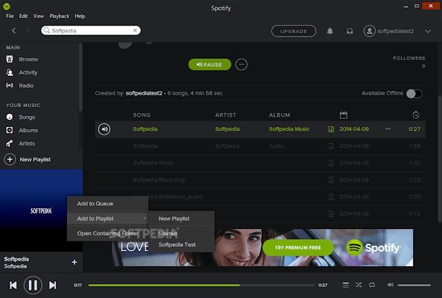 تحميل برنامج spotify للكمبيوتر Spotify 1.0.24