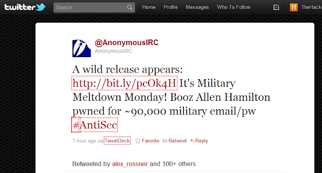 90,000 Military Email Accounts Leaked in Latest #AntiSec Attack