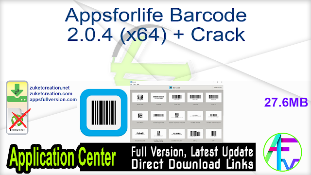 Appsforlife Barcode 2.0.4 (x64) + Crack