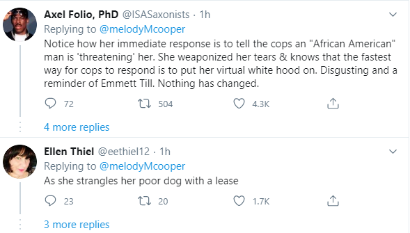 """moment Caucasian woman calls 911 and lies that an """"African American"""" man is threatening her life"""