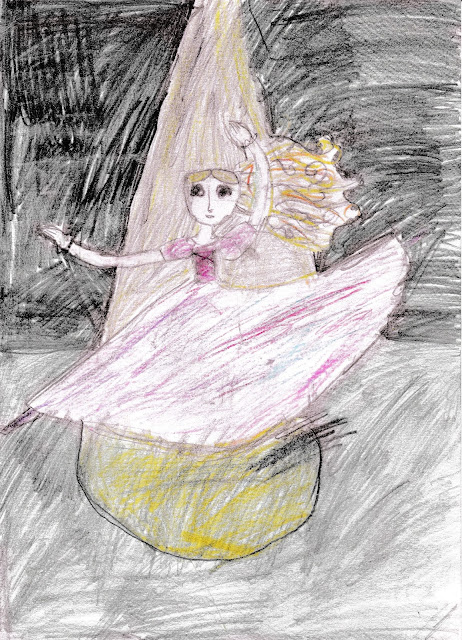 детский рисунок балерина, 100 дней - 100 рисунков