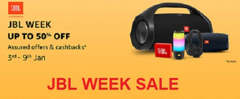 Amazon JBL Week ( 3 - 9 January )