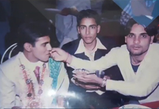 big boss season10 winner with his friends while marriage ceremony