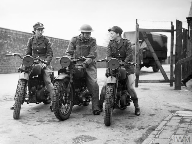 ATS motorcycle despatch riders 23 May 1941 worldwartwo.filminspector.com