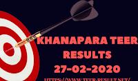 Khanapara Teer Results Today-27-02-2020