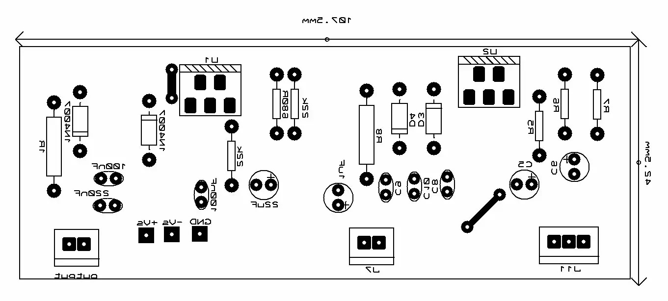 tda2030 stereo amplifier circuit pcb
