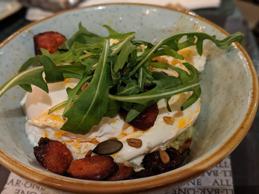 All Bar One Newcastle Brunch Review - chorizo egg bowl