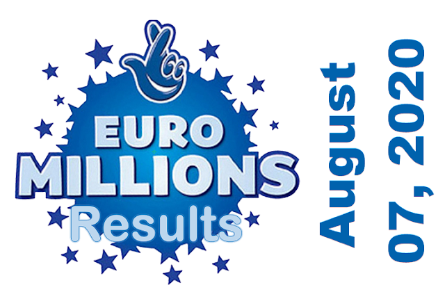 EuroMillions Results for Friday, August 07, 2020