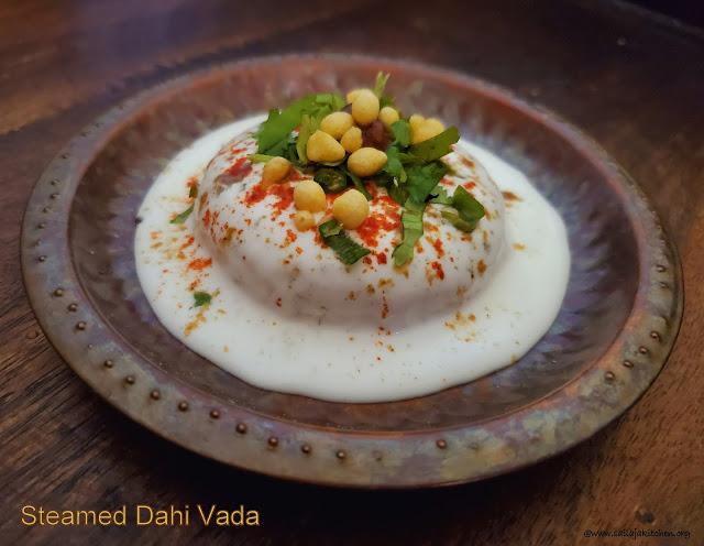 images of Steamed Dahi Vada Recipe / No Fry Dahi Vada / Soft Steamed Dahi Vada Recipe /Steamed Dahi Bhalla