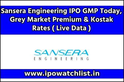 Sansera Engineering IPO GMP