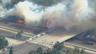 Silverado Fire Near 133 freeway