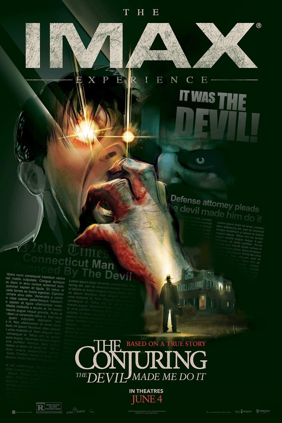 Вышел финальный трейлер фильма ужасов «Заклятие 3: По воле дьявола» - IMAX постер