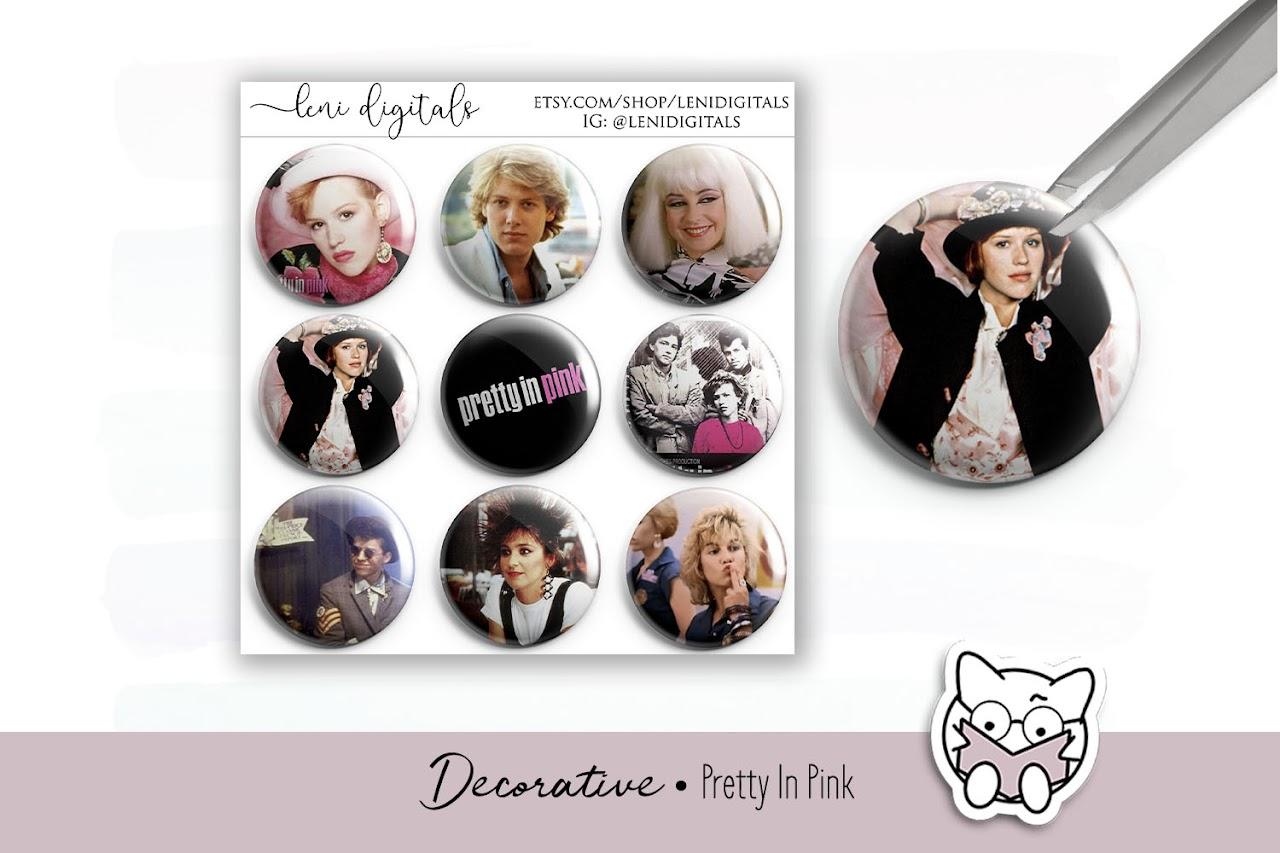 Leni Digitals free downloads pretty in pink digital planner