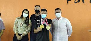 Raniery Paulino cumprimenta atletas paralímpicos paraibanos em evento na Vila Olímpica