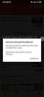 Cara Menghasilkan Uang dari Aplikasi BuzzBreak Android