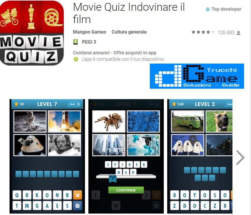 Soluzioni Movie Quiz (Indovinare il film)