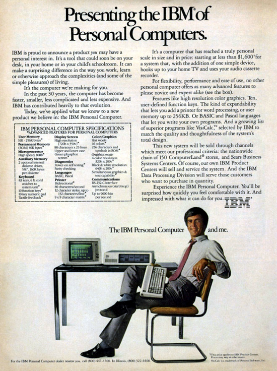 IBM 5150 PC advertising (man)
