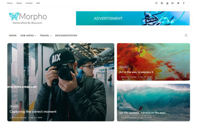 Morpho Responsive Blogger Template
