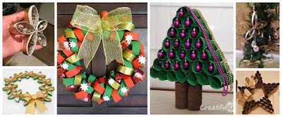 adornos-navideños-tubos-papel-higiénico-reciclado