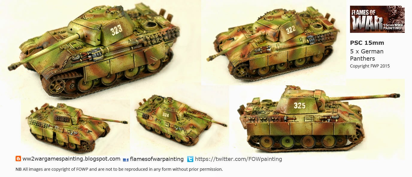 Plastic Soldier Company 15mm Panther painted by FOWP