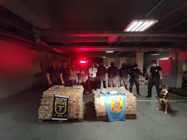 PF faz maior apreensão de cocaína da história da unidade em Guaíra