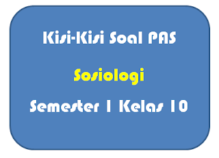 Kisi-Kisi Soal PAS Sosiologi Kelas 10