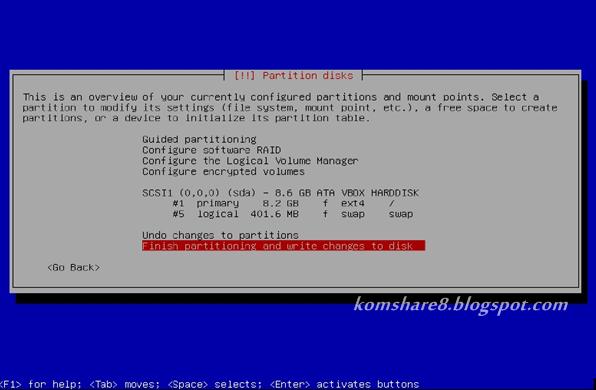 Akhir dari partition disk