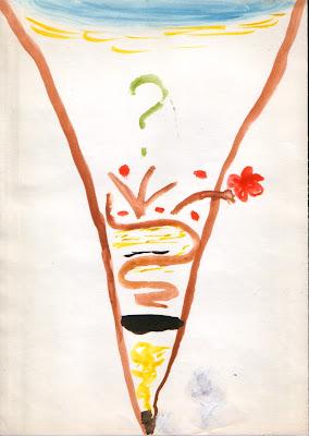 """Пример рисунка """"Мой жизненный путь"""". Согласитесь, что без сопроводительной истории автора понять значение каждой черточки непросто :)"""