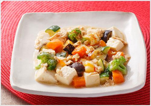 野菜たっぷり和風麻婆豆腐