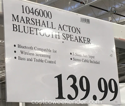 Deal for the Marshall Action Bluetooth Speaker at Costco
