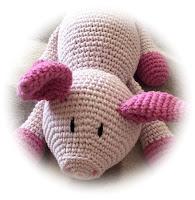 Nephi-Handmade Schweinchen gehäkelt