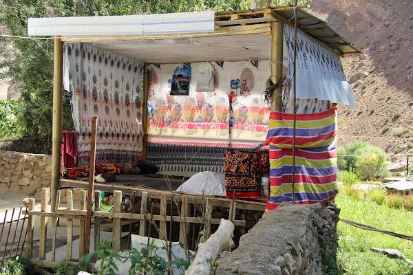 Tadjikistan, Haut-Badakhshan, Garam Chashma, tapshan, tapchane, © L. Gigout, 2012