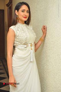 Actress Pragya Jaiswal Stills in Beautiful White Dress at turodu Audio Launch  0011.JPG