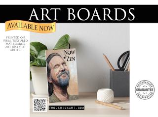 Now and Zen  art board by Boulder artist Tom Roderick