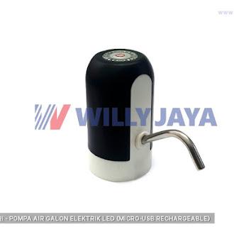NOMURI - POMPA AIR GALON ELEKTRIK LED (MICRO-USB RECHARGEABLE)