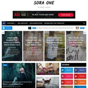 Sora one blogger template