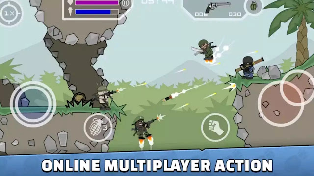 Mini Militia - Doodle Army 2 new update mod app(v5.1.0 )+(Unlimited halth)+No Ads For Android,