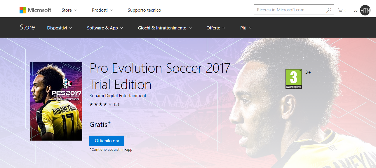 PES 2017 Edizione gratuita disponibile per PC, Xbox One, PS4 e PS3 | Video e Download HTNovo