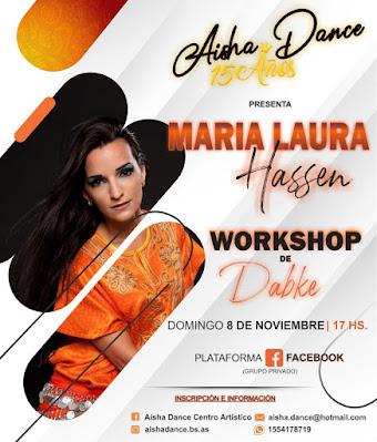 15 años a pleno. Llega a Aisha Dance, María Laura Hassen. Imperdible.  Aviso%2Bhassen%2Ben%2BAisha%2BDance