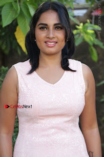 Actress Srushti Dange Stills in Short Dress at Mupparimanam Press Meet  0030.jpg