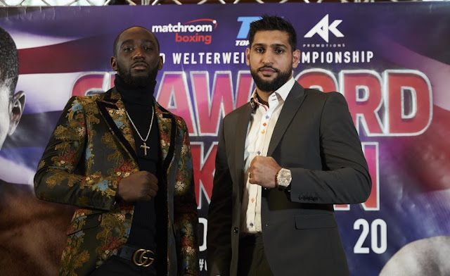 Terence Crawford Vs Amir Khan Press conference photos