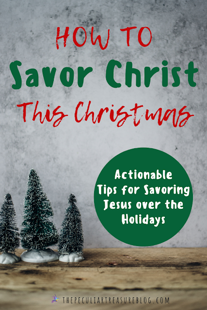 As the holiday season approaches, are we savoring Christ and putting Him first? How can we start slowing down and making Christ the center of Christmas in an active and intentional way? Learn How to Savor Christ This Christmas Season. | Savor Christ | Christmas |  #Christmas #Holiday #Jesus #Christianity #Faith