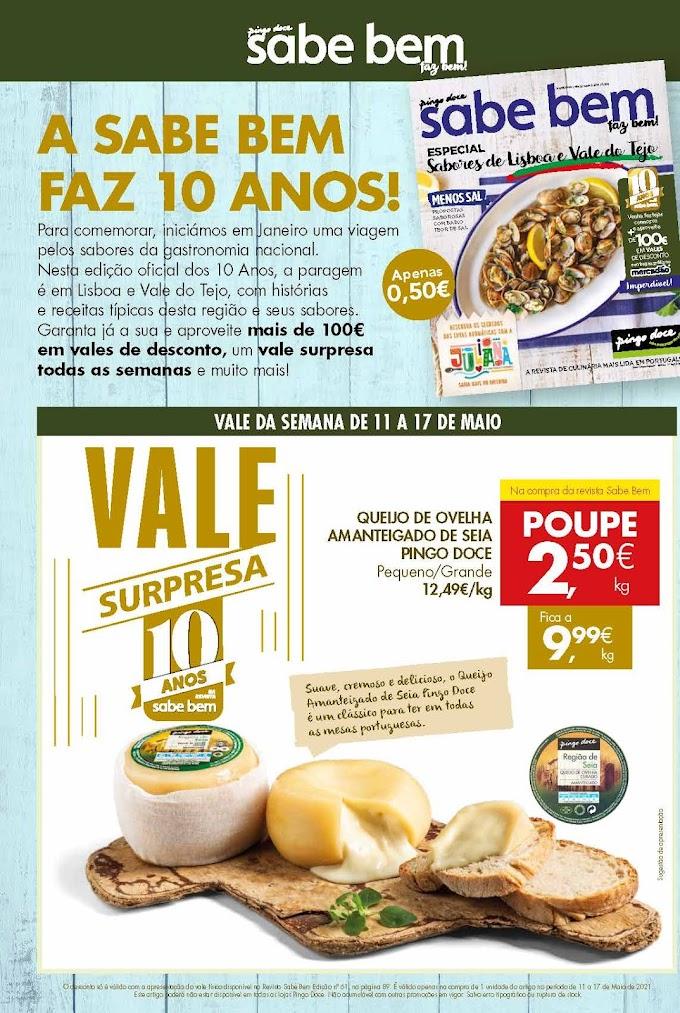 """Folheto PINGO DOCE """"Poupe esta Semana"""" com mega promoções de 11 a 17 de maio"""