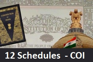 GK English 12 schedules of Constitution of India