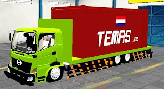 Mod bussid Truck Hino Flatbed Muatan Kontainer
