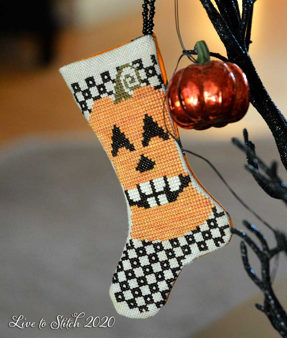 Pumpkin stocking by Blackbird Designs