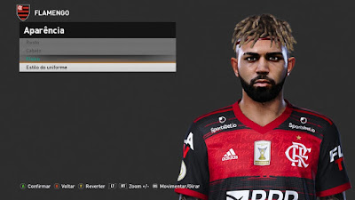 PES 2021 Faces Gabriel Barbosa by Kleyton