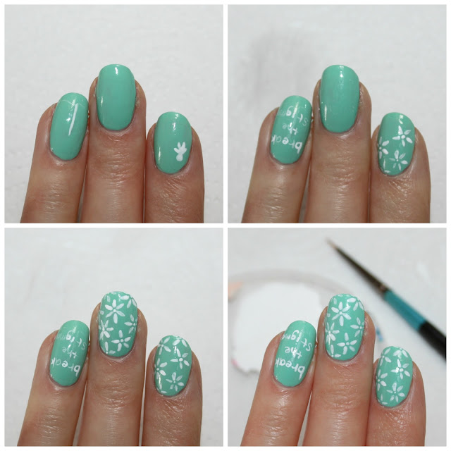 Mental Health Awareness Nail Art
